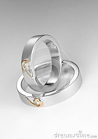 Para pierścionek