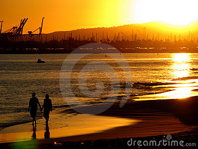 Para plażowy słońca