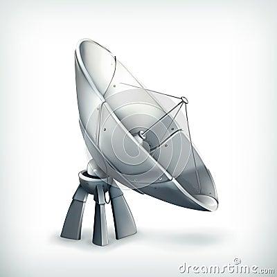 Parabolic antenna, icon