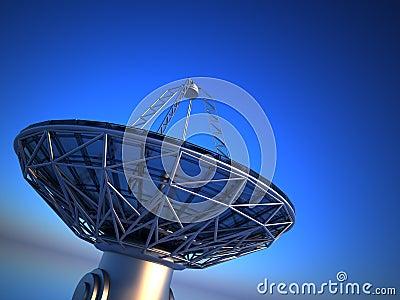 Parabolic antenna( radio telescope)