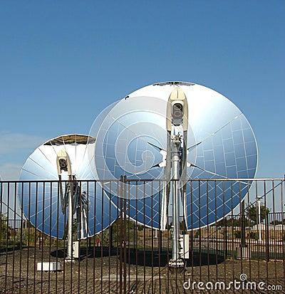 Parabolic dish solar reflectors