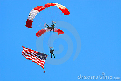 Parachute Editorial Stock Image