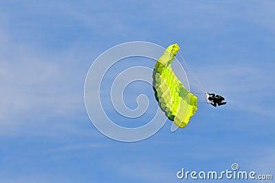 Parachute acrobat