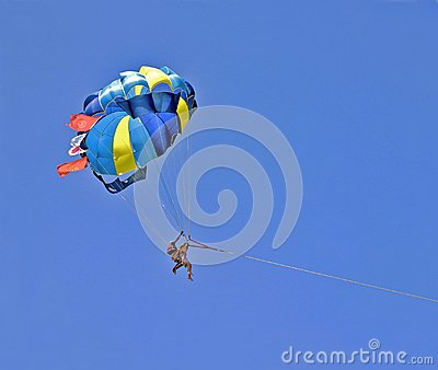 Parachute in blue