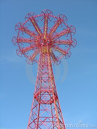 Free Parachute Drop Tower Royalty Free Stock Photography - 505717