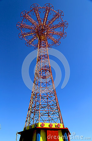 Free Parachute Jump Tower - Famous Coney Island Landmark In Brooklyn Royalty Free Stock Image - 31632006