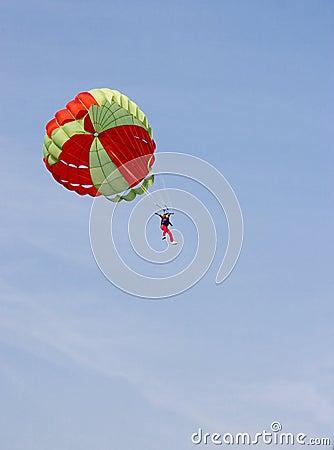 Parachute jumping