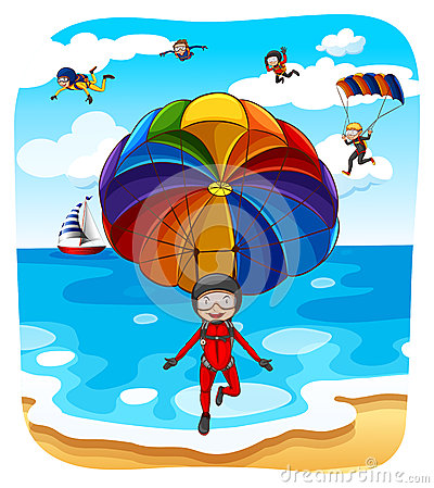 Free Parachuting Stock Photos - 55010603