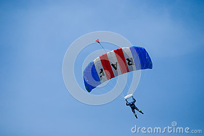 Parachutist. Editorial Stock Image