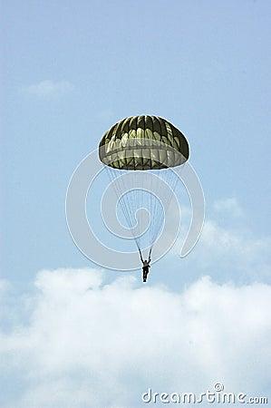 Free Parachutist Royalty Free Stock Photography - 2898997