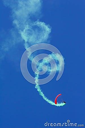 Parachutist aerobatics