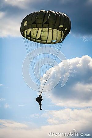 Free Parachutist In The War Royalty Free Stock Photos - 44805408