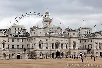 Parada Londres Inglaterra dos protetores de cavalo Foto Editorial