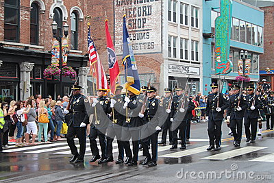 Parade on Broadway in Nashville, Tennessee Editorial Photo