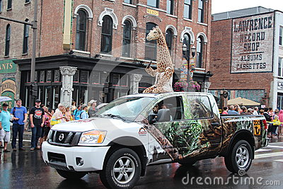Parade on Broadway in Nashville, Tennessee Editorial Stock Photo