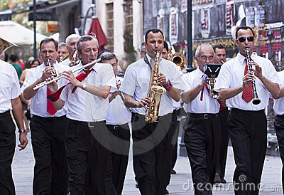 Parade in Bucharest - RAW format Editorial Stock Photo