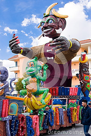 Parade of Carnival floats Editorial Photography