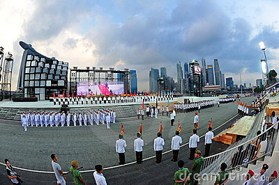 Parade ceremony segment at NDP 2011 Editorial Photo