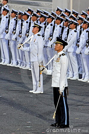 Parade Commander and guard-of-honor contingent Editorial Photography