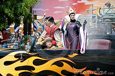 Parade with Evil Queen Editorial Photography