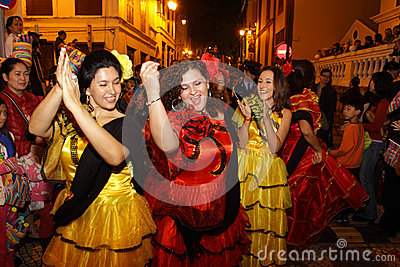 Parade through Macao, Latin City 2012 Editorial Image