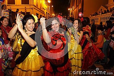 Parade through Macao, Latin City 2012 Editorial Image