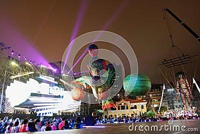 Parade through Macao, Latin City 2012 Editorial Photo