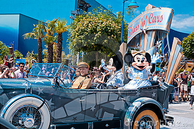 Parade with Mickey Mouse Editorial Image