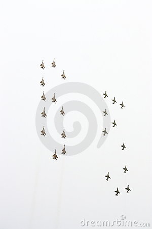 Parade of military aircraft in Moscow May, 9 2010 Editorial Image