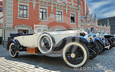 Parade Rolls Royce. Editorial Stock Image