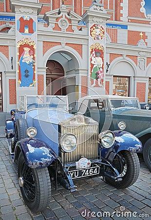 Parade Rolls Royce. Editorial Stock Image