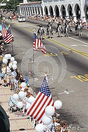 Parade route Editorial Photo