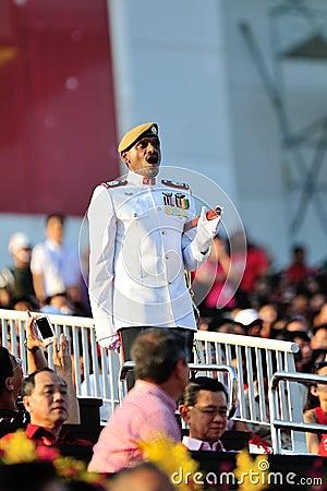 Parade RSM MWO Kannan Tamizh giving command Editorial Stock Image