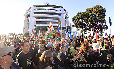 Parade Rygby world cup 2011 Editorial Photo