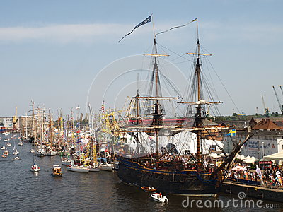 Parade of Ships in 2014 Editorial Stock Photo