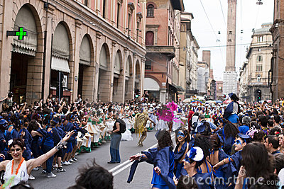 Parade show in street Editorial Stock Image