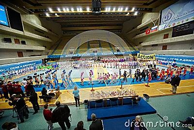Parade of teams participants at Championship Editorial Stock Photo