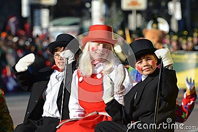 Parade van de Kerstman van Toronto de 108ste Redactionele Stock Afbeelding