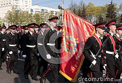 Parade of victory. Vladimir, May 9, 2009 Editorial Photography