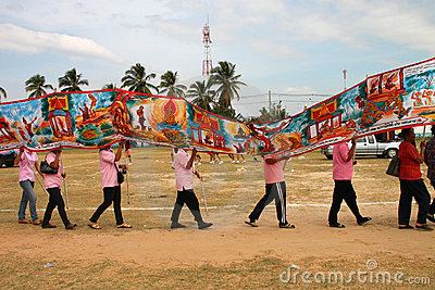 Paraders in local sports festival season Editorial Photography