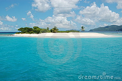 Paradies-Insel im Türkis