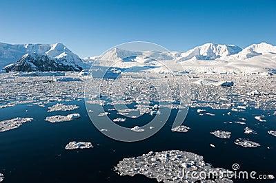 Paradise bay in Antarctica