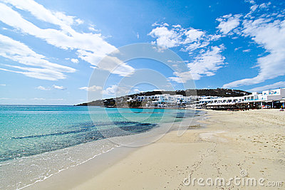 Paradise beach in Mykonos
