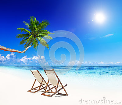 Paradise Beach for Relaxation with Beach Chairs