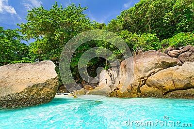 Paradise beach of Similan islands