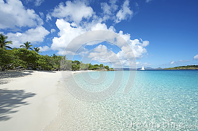 Paradise Caribbean Beach Virgin Islands Horizontal