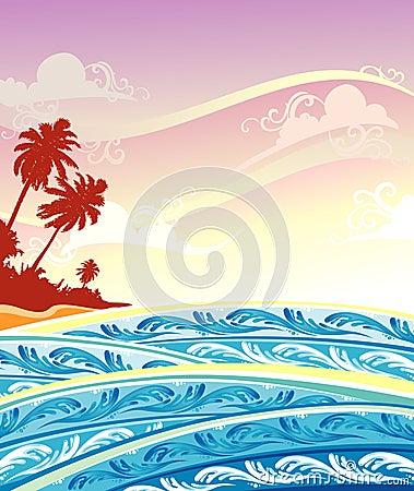 Paradise Island Scene