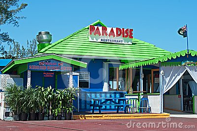 Paradise Restaurant & Bar Editorial Image