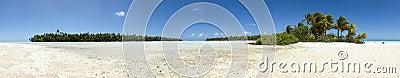 Paradise white sand beach panoramic view