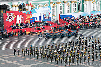 Parady militarny zwycięstwo Fotografia Editorial